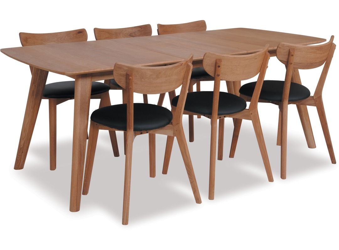 rho 1800 extension dining table pero chairs x 6
