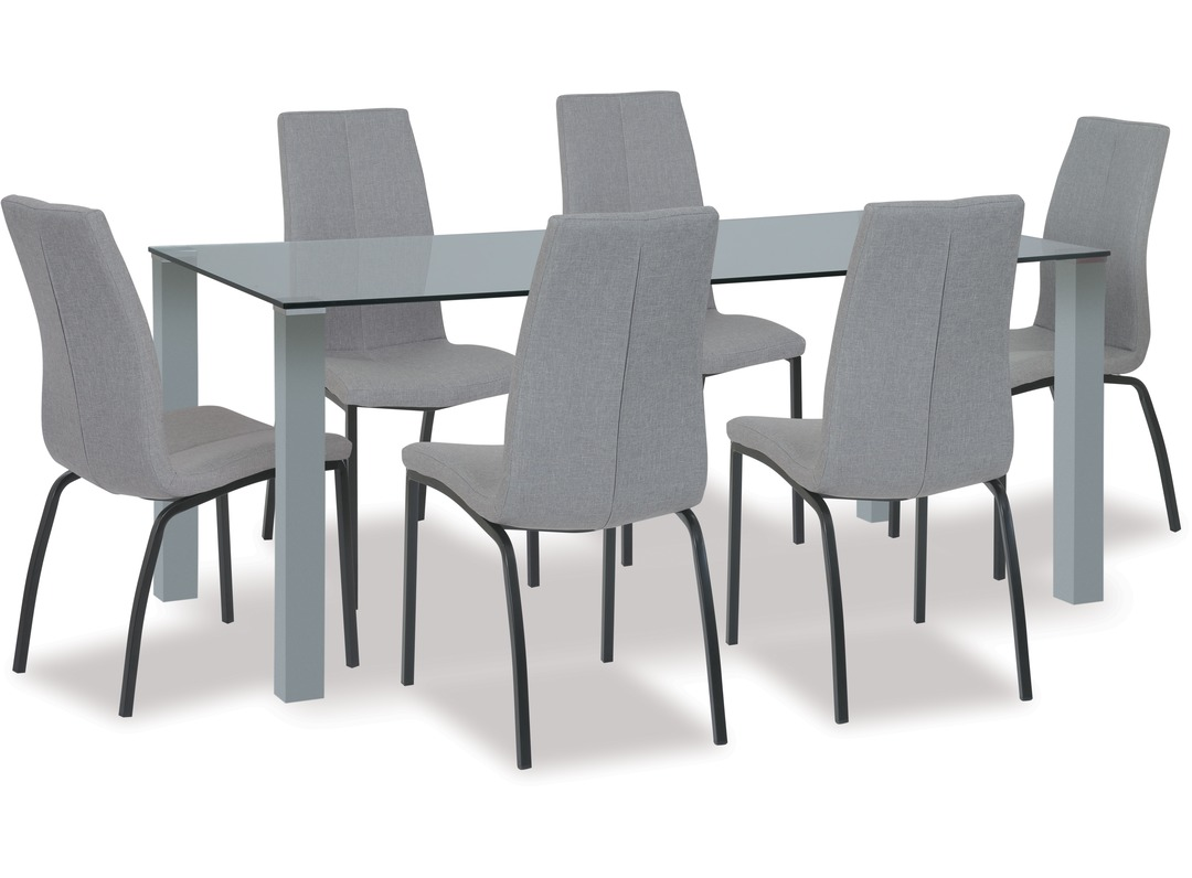 Kante Dining Table Asama Chairs X 6