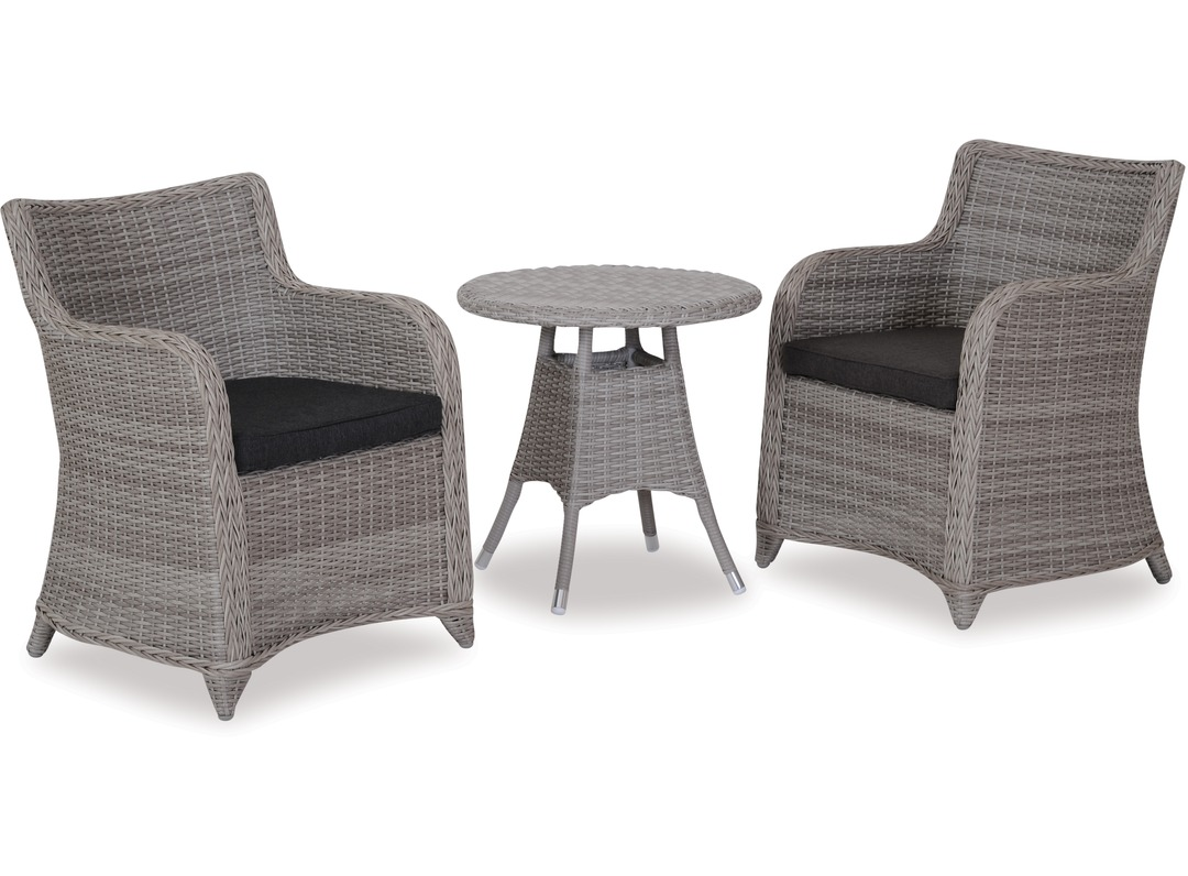 Phuket 600 round outdoor side table bali outdoor chairs x 2 for Outdoor furniture phuket