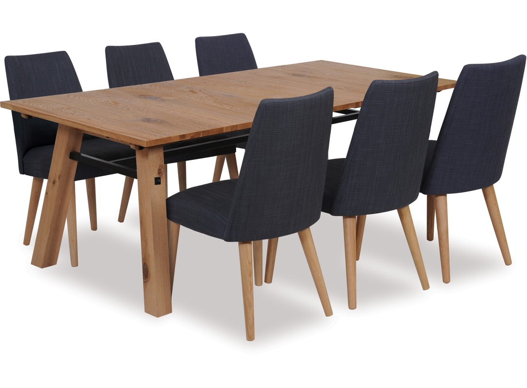 Stockholm 2100 Extension Dining Table Norway Chairs X 6