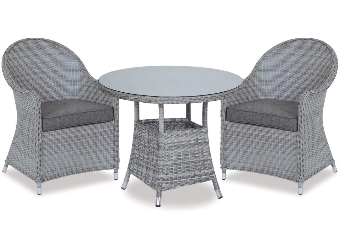 Baja 740 Round Outdoor Table & Cabo Outdoor Chairs X 2