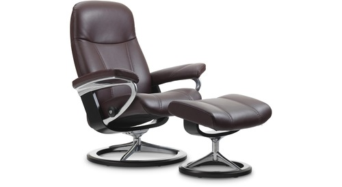 Stressless® Consul Leather Recliner - Signature Base