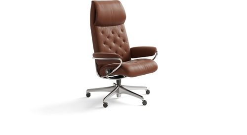 Stressless® Metro Leather Home Office Chair - High Back