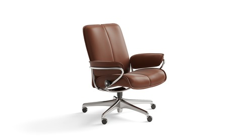 Stressless® City Leather Home Office Chair - Low Back