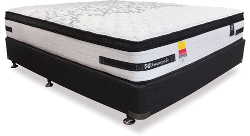 Sealy Exquisite Corsica Plush - King Mattress & Base