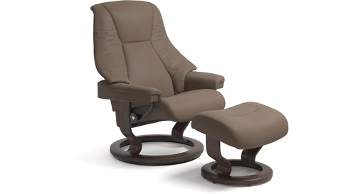 Stressless® Live Leather Recliner - Classic Base