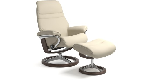 Stressless® Sunrise Leather Recliner - Signature Base - 3 Sizes Available