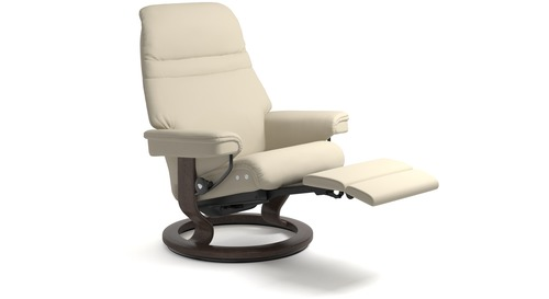Stressless® Sunrise Leather Recliner - LegComfort - 2 Sizes Available